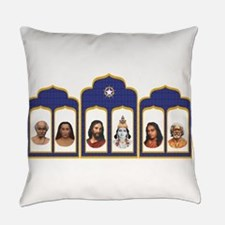 Standard Altar with 6 Gurus Everyday Pillow
