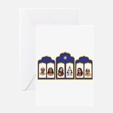 Standard Altar with 6 Gurus Greeting Cards