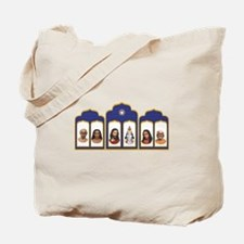 Standard Altar with 6 Gurus Tote Bag
