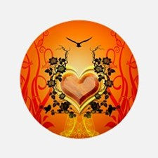 """Awesome hearts 3.5"""" Button (100 pack)"""