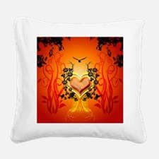 Awesome hearts Square Canvas Pillow