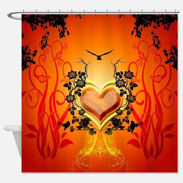 Awesome hearts Shower Curtain
