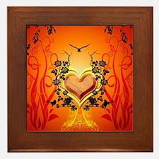 Awesome hearts Framed Tile