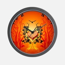 Awesome hearts Wall Clock