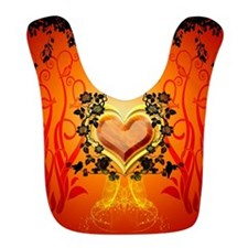 Awesome hearts Bib
