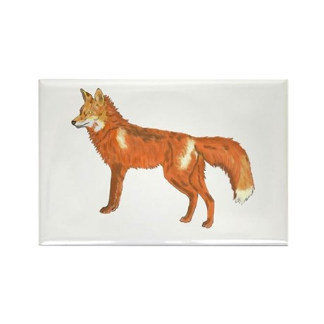 Red Fox Rectangle Magnet (10 pack)