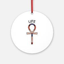Life Ankh Round Ornament