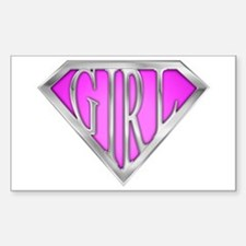 SuperGirl(Pink) Rectangle Decal