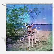 Cute Zebra Shower Curtain