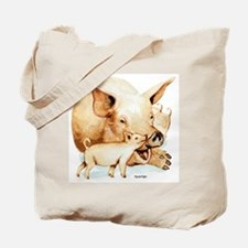 Pig and Piglet Tote Bag