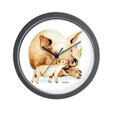 Pig and Piglet Wall Clock