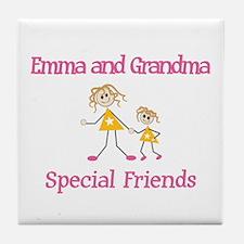 Emma & Grandma - Friends Tile Coaster