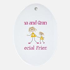 Emma & Grandma - Friends Oval Ornament