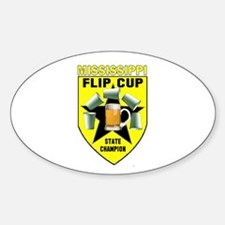 Mississippi Flip Cup State Ch Oval Decal