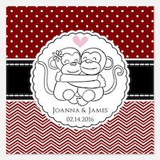 Personalized Monkey Couple Invitations