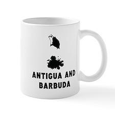 Antigua and Barbuda Silhouette Mugs