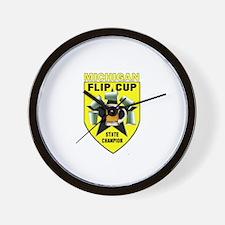 Michigan Flip Cup State Champ Wall Clock