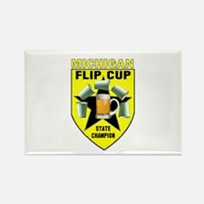 Michigan Flip Cup State Champ Rectangle Magnet