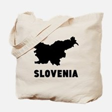 Slovenia Silhouette Tote Bag