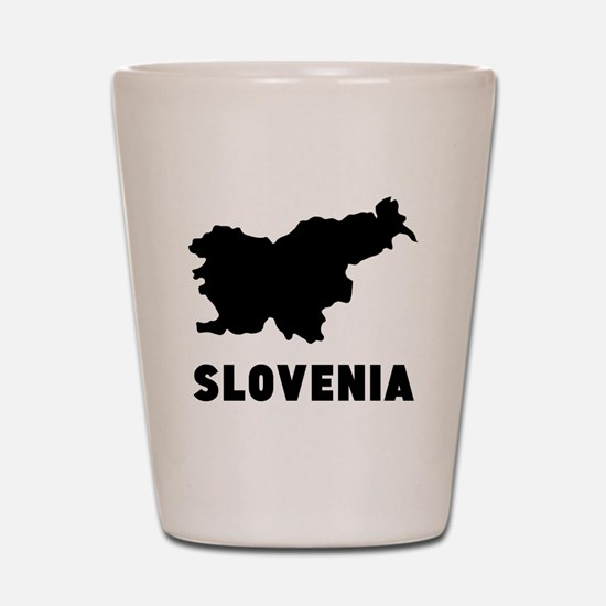 Slovenia Silhouette Shot Glass