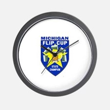 Michigan Flip Cup State Champ Wall Clock