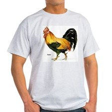 Rooster Chicken Ash Grey T-Shirt