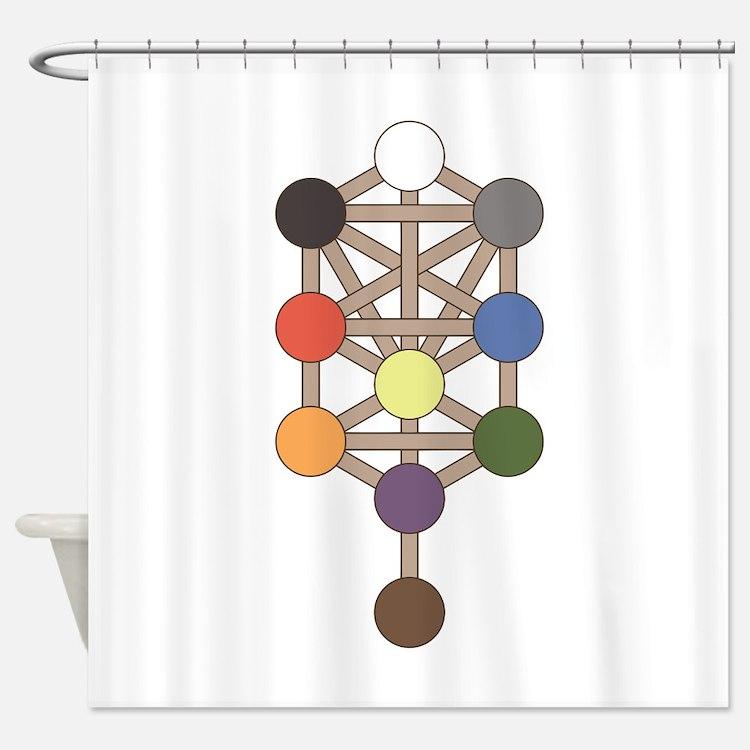Jewish Symbol Shower Curtains | Jewish Symbol Fabric ...