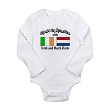 Unique Irish and american flags Long Sleeve Infant Bodysuit