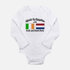 Unique American made Long Sleeve Infant Bodysuit