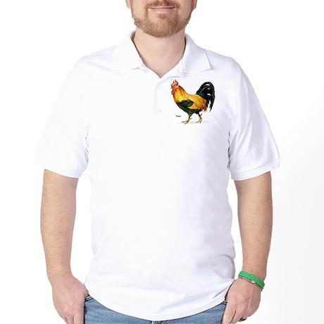 Rooster Chicken Golf Shirt