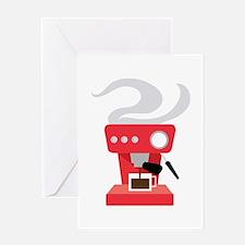 Espresso Machine Greeting Cards