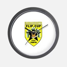 Massachusetts Flip Cup State Wall Clock
