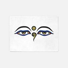 Eyes Of Buddha 5'x7'Area Rug