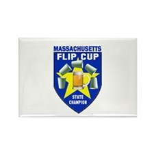 Massachusetts Flip Cup State Rectangle Magnet