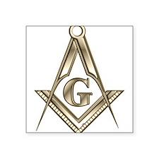 "Cute Freemasonry Square Sticker 3"" x 3"""