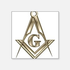 "Unique Masonic Square Sticker 3"" x 3"""