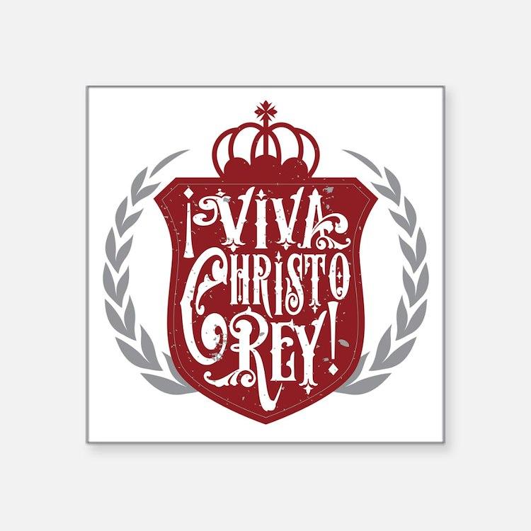 Viva Cristo Rey Shield Sticker