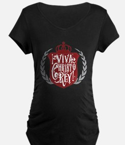 Viva Cristo Rey Shield Maternity T-Shirt