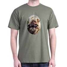 Two Brussels Griffons on T-Shirt