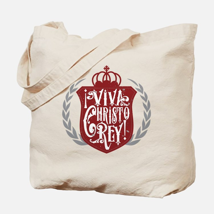 Viva Cristo Rey Shield Tote Bag