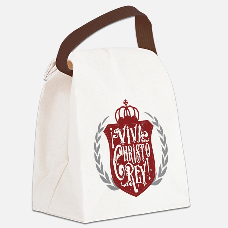 Viva Cristo Rey Shield Canvas Lunch Bag