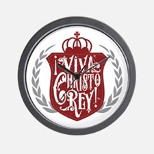 Viva Cristo Rey Shield Wall Clock