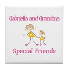 Gabriella & Grandma - Friends Tile Coaster