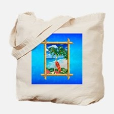 Beach Christmas Ocean Blue Tote Bag