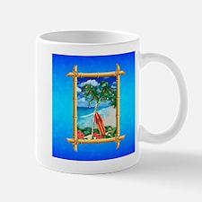 Beach Christmas Ocean Blue Mugs