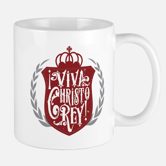 Viva Cristo Rey Shield Mugs