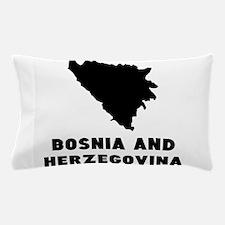 Bosnia and Herzegovina Silhouette Pillow Case