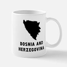 Bosnia and Herzegovina Silhouette Mugs