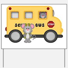 Cute Yellow bus Yard Sign