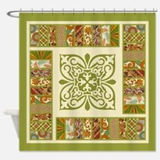 ELEGANT TILE Shower Curtain